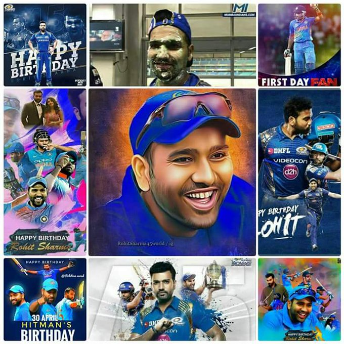 Many many happy returns of the day  Happy Birthday   Rohit Sharma The Hitman