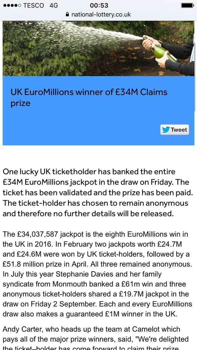 The National Lottery on Twitter: