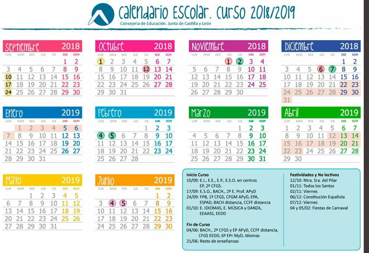Calendario Educacyl.Ceip Juan Luis Vives On Twitter Calendario Escolar Educacyl Para