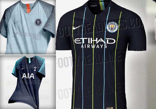 a1df989a7 Premier League confirmed and leaked kits  A first look at the new shirts  we ll see in the 2018 19 season ...