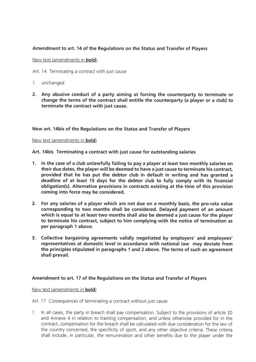 Asser Sports Law On Twitter The New Article 14 Bis Rstp Gives