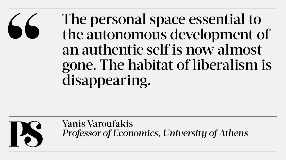.@yanisvaroufakis argues that the relentless commodification of privacy has ruled out individual self-ownership https://t.co/1YPVnk2vTc