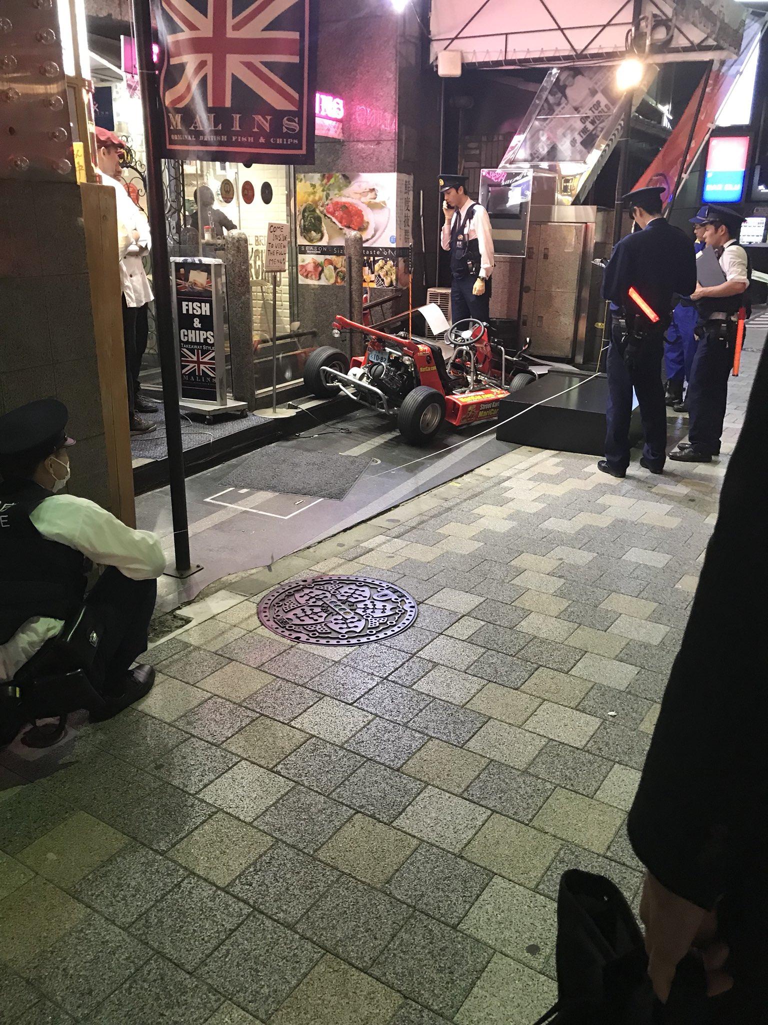 画像,マリオカートが事故してる❗️ https://t.co/t6ZFOaiPRV。