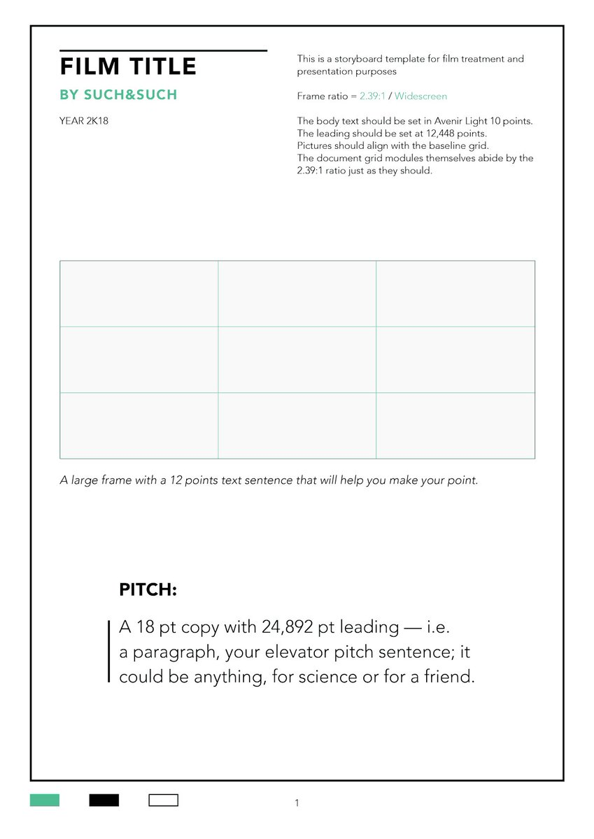 Film Storyboards On Twitter New Indesign Storyboard Template