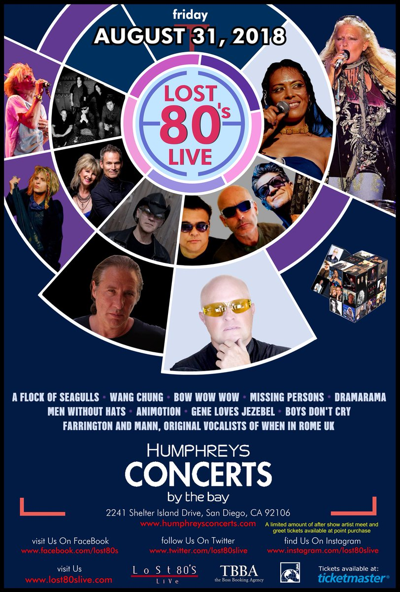 Lost 80s live on twitter sandiego 80smusic fans lost80slive lost80slive returns to humphreysshows friday august 31 for an evening of 80s hit music to buy tickets and meet n greet m4hsunfo