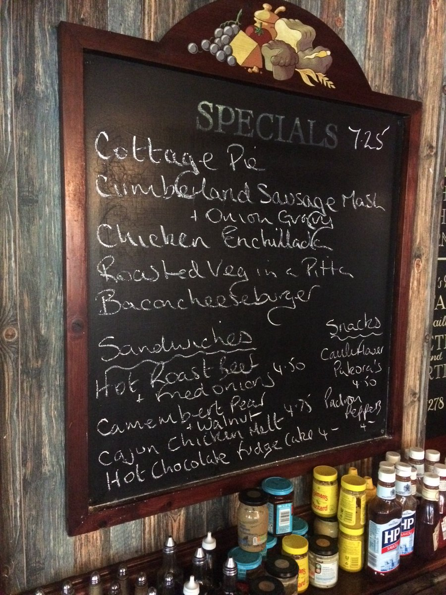 Some great comfort food on this weeks specials board. https://t.co/6XnGzUKEkW