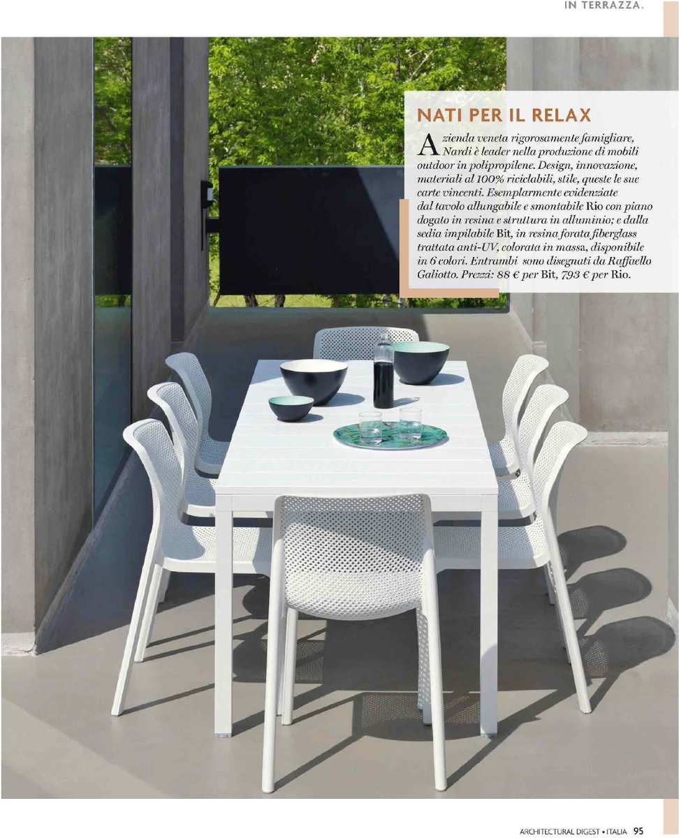 Tavolo Allungabile 6 Sedie.Nardi Outdoor On Twitter Our Rio Table And Bit Chair On