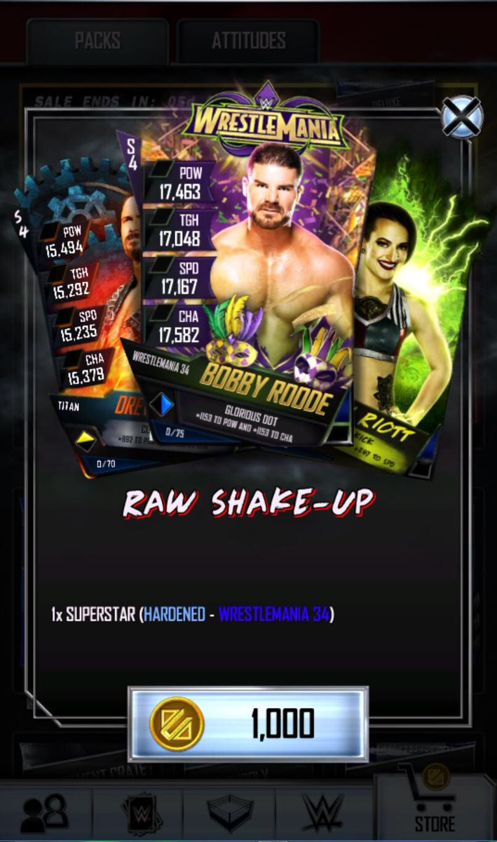 A limited-time @WWESuperCard #RAW Shake-up Pack is available today, featuring my #Glorious #WrestleMania 34 card. #ad