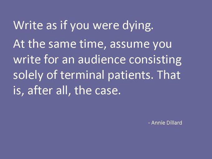 Happy birthday to American author Annie Dillard!