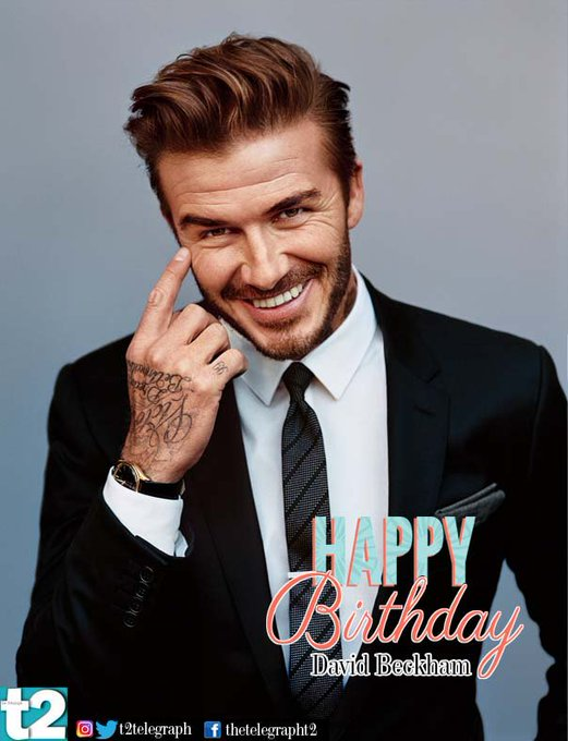 Heart-throb, icon and brilliant on the pitch -- David Beckham, t2 wishes you a happy birthday.