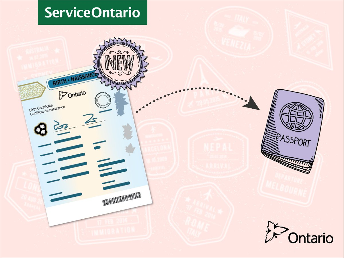 Serviceontario On Twitter Need A Passport For Your Child Get The