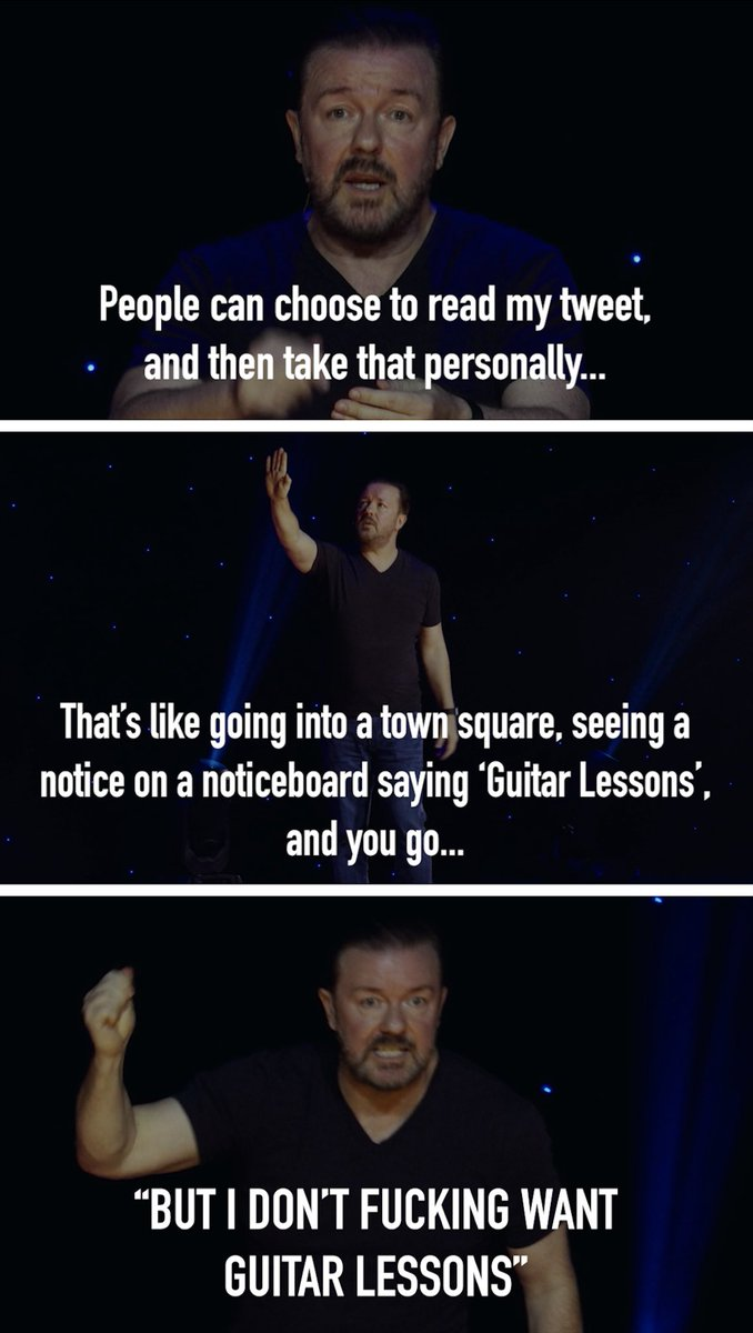 The best @rickygervais moment in history, compacted into a meme to do with as you please (as long as you don't offend anyone in the process) https://t.co/Mf4qfE3m4c