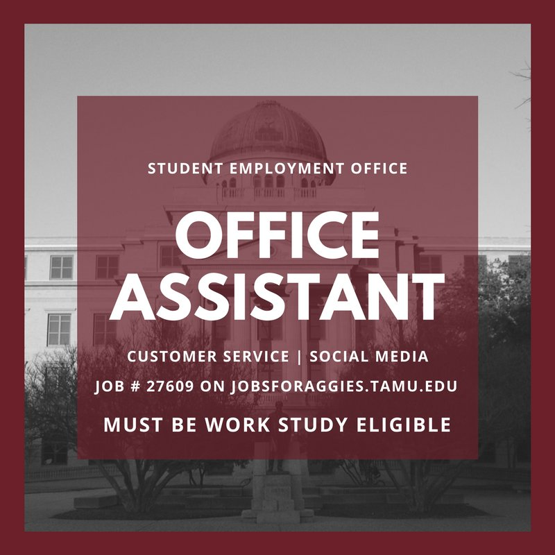 This Position Assists With Our Social Media Presence And Customer Service Read The Full Job Description On Jobsforaggiestamuedu Pictwitter