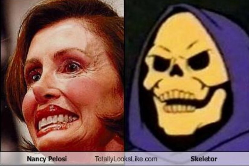 Image result for pelosi villain skeletor