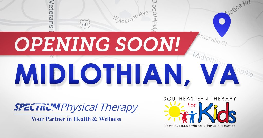 Ivy Rehab Pt On Twitter The Ivy Rehab Network Is Thrilled To Announce That We Re Opening 2 New Clinics In Midlothian Va The Newest Southeastern Therapy For Kids Will Be Opening Tomorrow