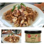 Image for the Tweet beginning: Ancient Grain Pasta with Octopus