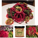 Image for the Tweet beginning: Beet Spaghetti with Red Kale,