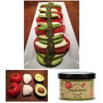 Image for the Tweet beginning: Caprese Salad with Avocado and
