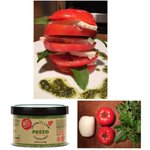 Image for the Tweet beginning: Caprese tower with Tomato, Mozzarella,