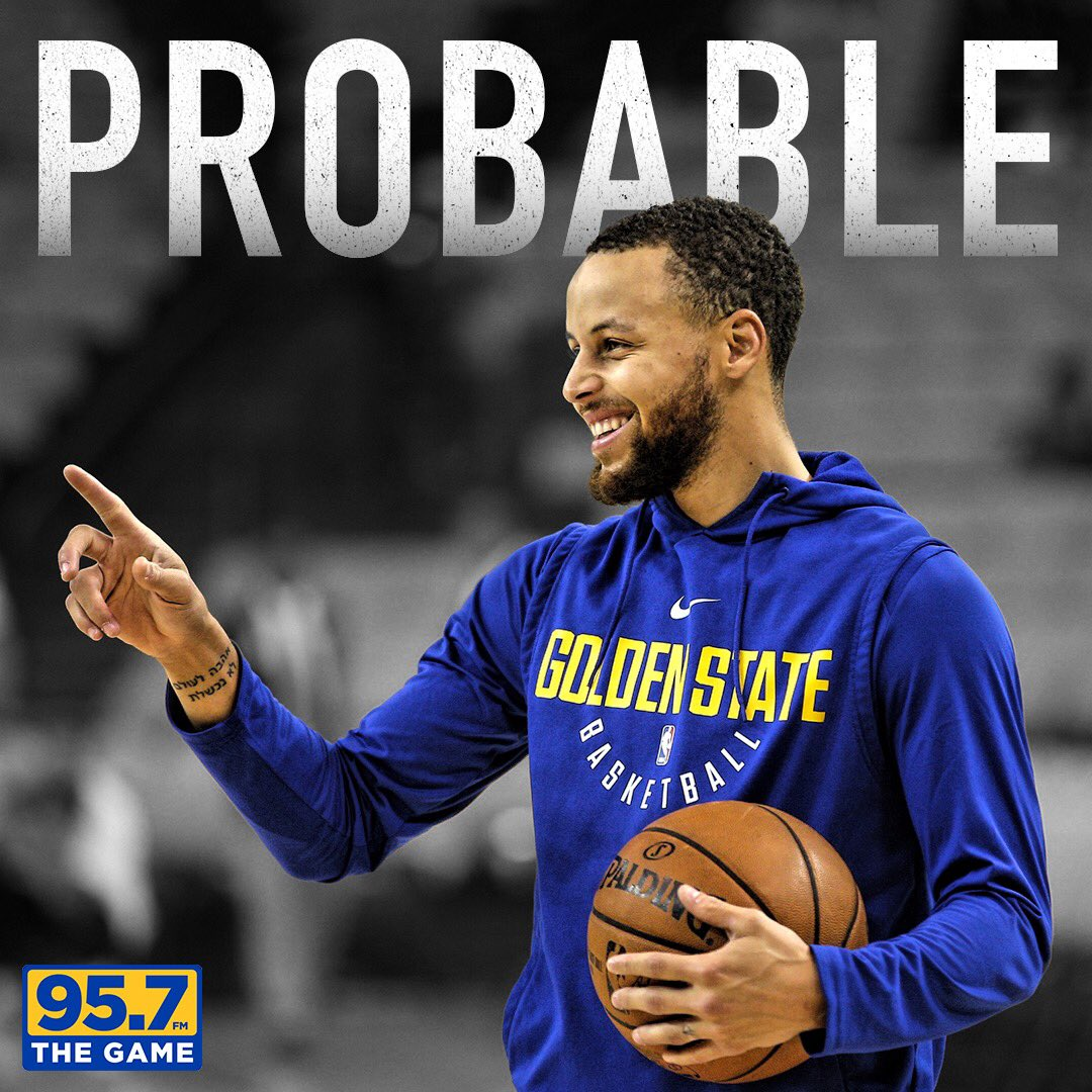 Steve Kerr says Stephen Curry is officially probable for Game 2 on Tuesday night. #Warriors https://t.co/uN8muNhAOc