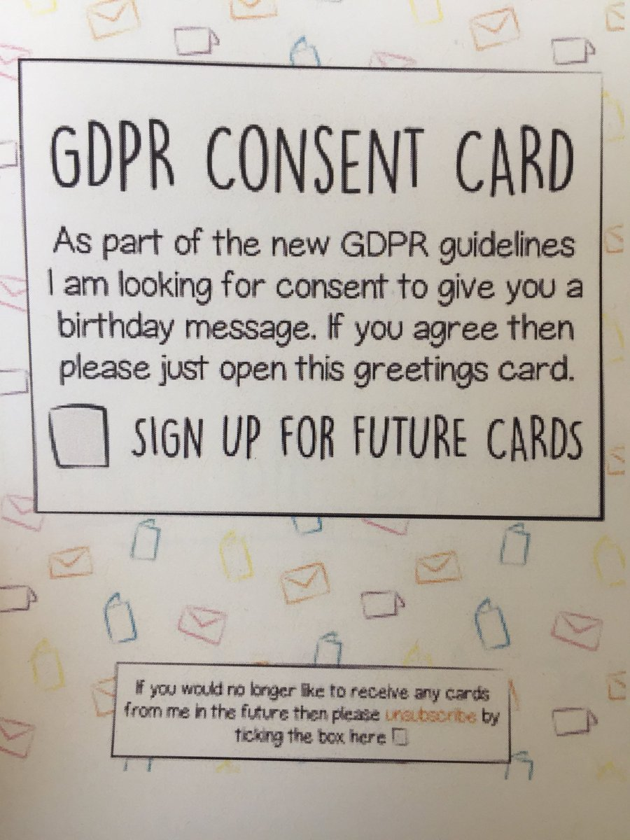 Tanya forsheit on twitter best birthday card ever from my tanya forsheit on twitter best birthday card ever from my frankfurtkurnit privacy team gdpr lawyerlife m4hsunfo