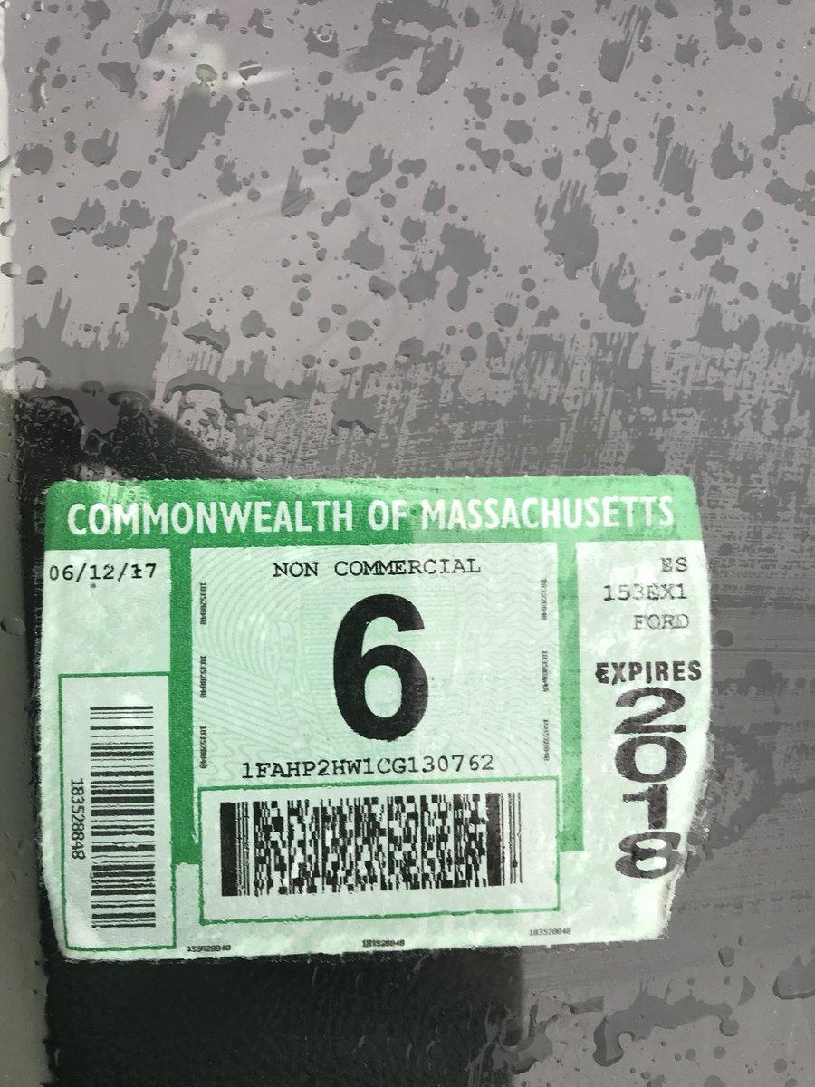 1958 Massachusetts Spring INSPECTION Sticker
