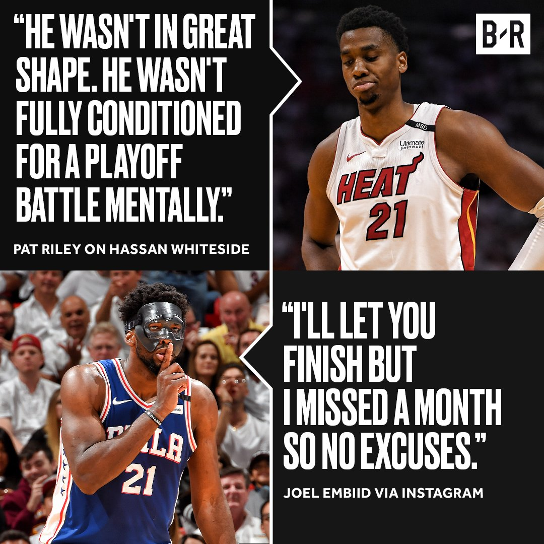 The Embiid-Whiteside beef continues https://t.co/7rjYQyjq5O