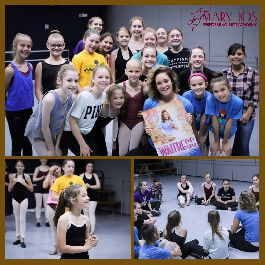 "On Saturday, our students had an AMAZING opportunity to learn from Broadway's Master class ""Waitress"" star teacher, Gerianne Perez!  It was a very fun workshop! ⭐️  #MJPAA #BroadwayConnection #MasterClass #Workshop #Waitress #MusicalTheater"