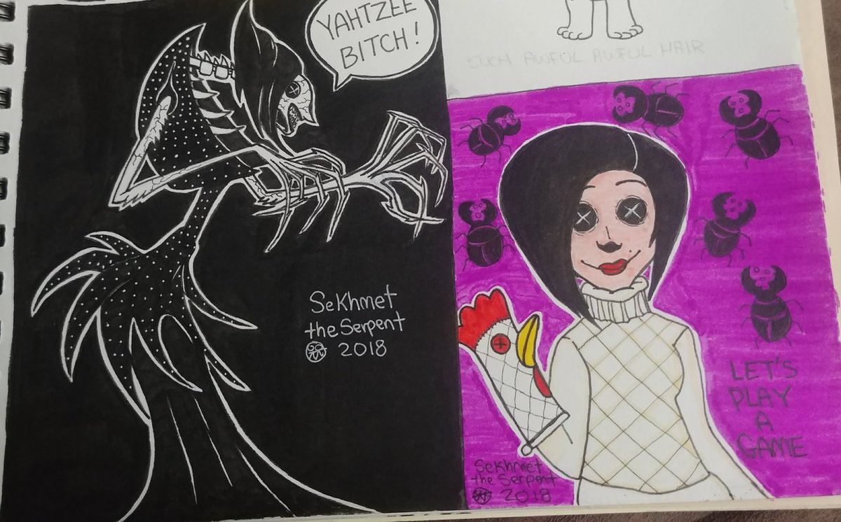 Sekhmet The Serpent On Twitter The Beldam Aka Other Mother Coraline Fanart She Likes To Play Games So Why Not Yahtzee Coraline Fanart Othermother Thebeldam Buttonsforeyes Https T Co Feun3ldbrk