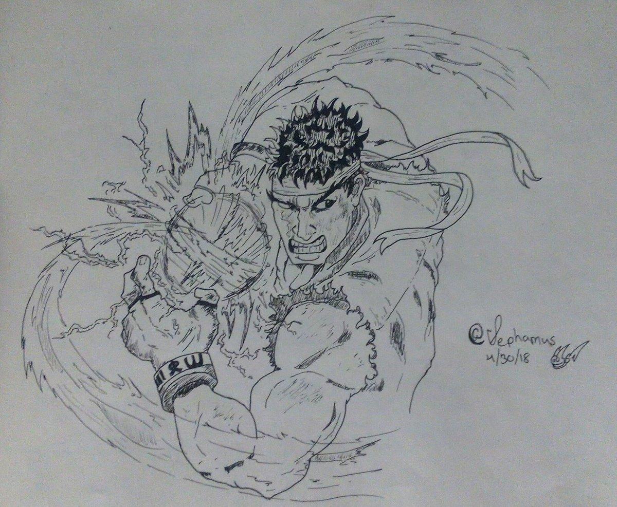 Sephamus Prime On Twitter Sketch Inked Practice Fanart Ryu