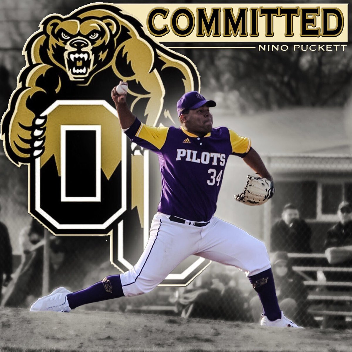 Truly blessed to announce my commitment to further my academic and athletic career at Oakland University! #GoGrizzlies🐻