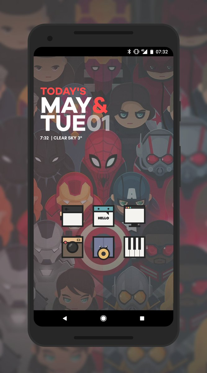 More avengers love this morning with #Astropaul3 by @paulebh0y and Daily UI KWGT by @ppickCH and wall edited by me  #Android #InfinityWar #Google #Pixel2XL #teampixel #KWGT #showyourhomescreen <br>http://pic.twitter.com/rNh7YuC5b6
