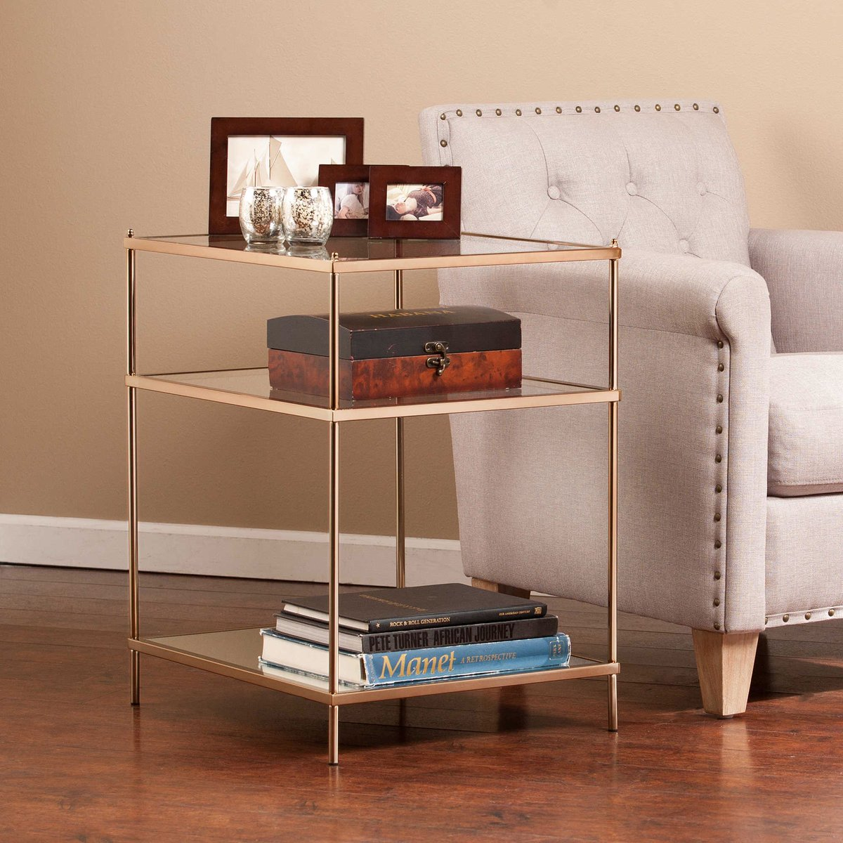 Wyckes Furniture On Twitter Blush Gold Metal Glass Side End