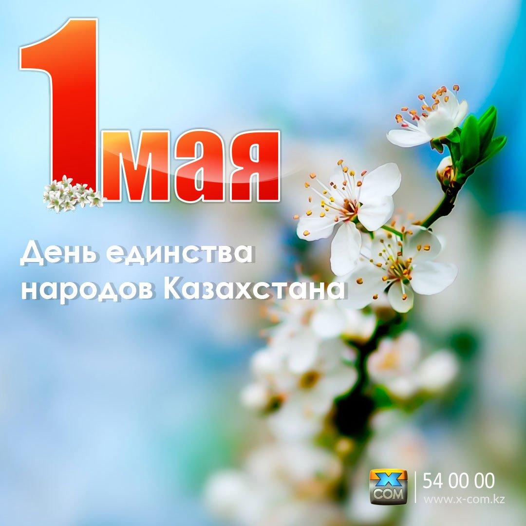 Новым годом, открытка день единства народов казахстана