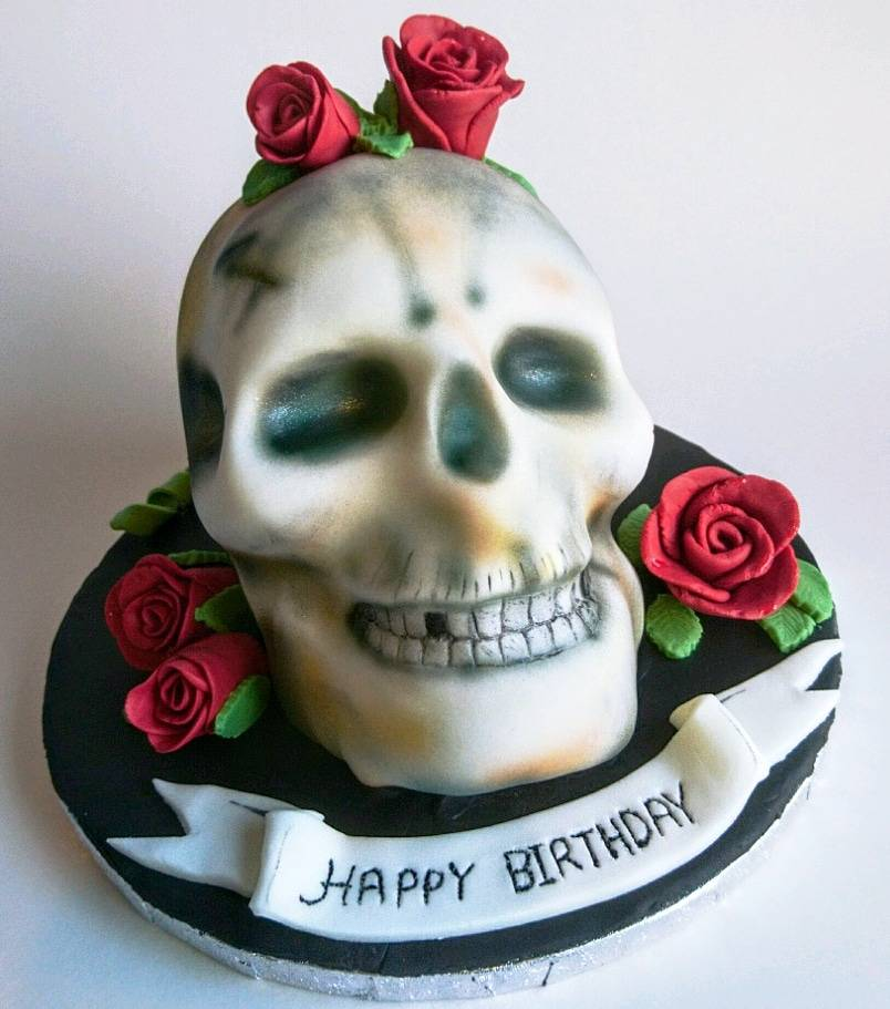 Rustic Food On Twitter This Gothic Skull Cake Is Matts Last