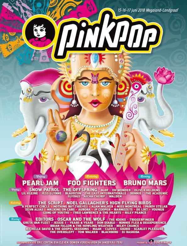 Afbeeldingsresultaat voor pinkpop 2018 poster