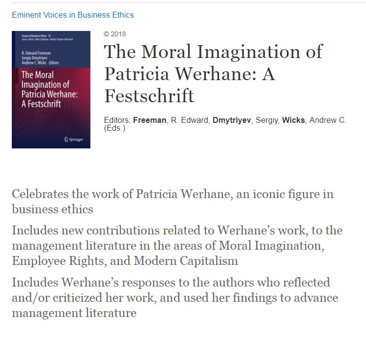 j business ethics   a new series of essays on patricia  j business ethics   a new series of essays on patricia werhanes  influential work on moral imagination edited by jbe editor refreeman