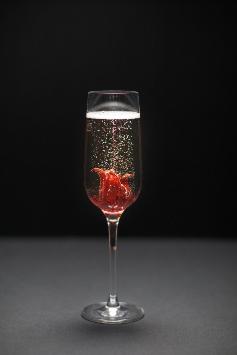 Bonsai bar on twitter wild hibiscus flower syrup touch of bonsai bar on twitter wild hibiscus flower syrup touch of vermouth topped with champagne bonsaibar dublin craftcocktails cocktailporn cocktailart izmirmasajfo