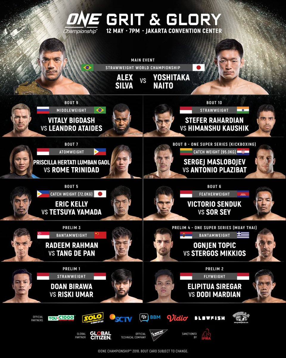 ONE Championship: Grit and Glory - Resultados. DcH-wnRU0AAgH22