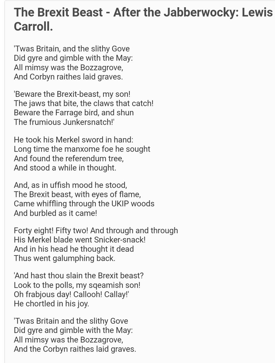 Sequin World On Twitter Brexit Poem The Brexit
