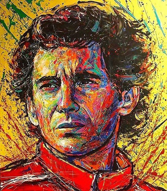 Dave Sharp S Art On Twitter 24 Years Ago Today We Lost The Great Ayrton Senna Ayrtonsenna Brazil Formula1 Mclaren F1 Racing Sports Rip Icon Legend Art Artist Artists Painting Painter Popart
