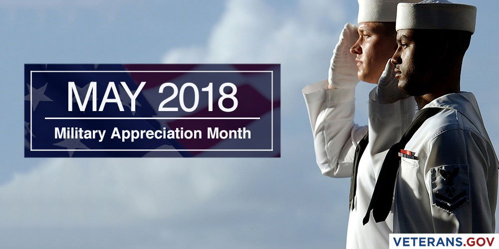Image result for may is military appreciation month image 2018