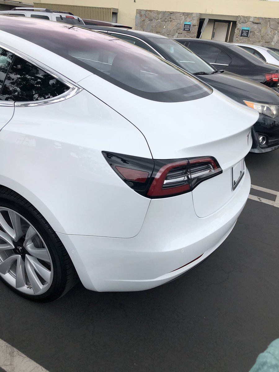 Model 3 Rear Per Discolouration If Taking Delivery Check Your Car Outdoors In Direct Sunlight Keep Mind It S Not A Unique Tesla Thing