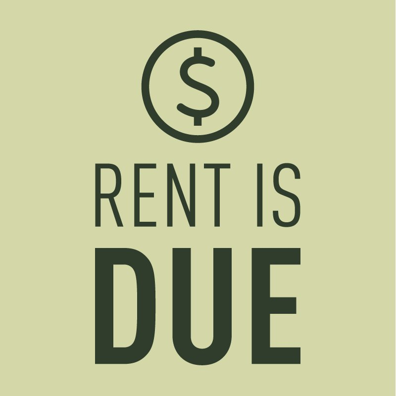 "Rent Due Clip Art: Callaway Villas On Twitter: ""Attention! Your Rent Is Due"