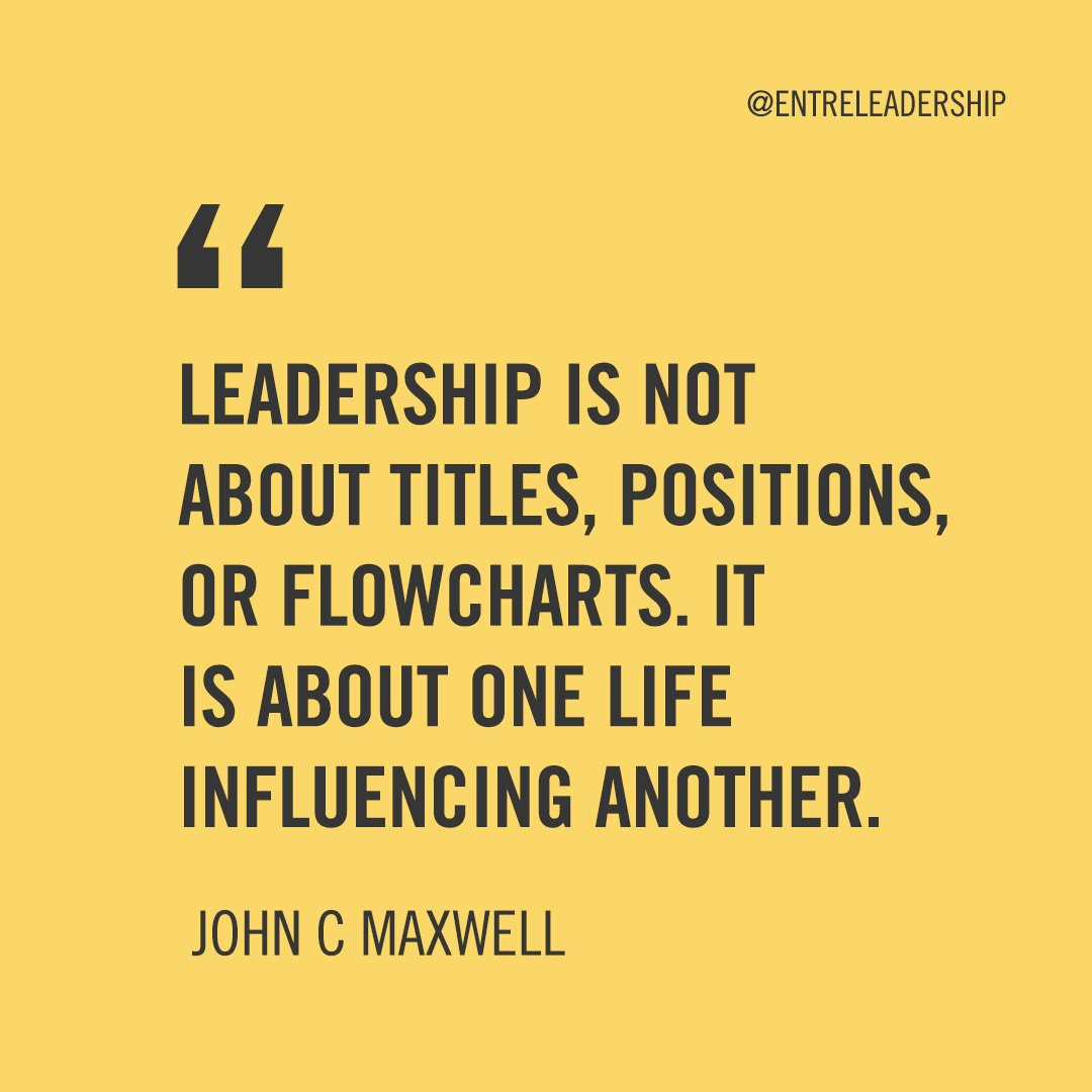 Throw away the titles and get more concerned about impacting others.