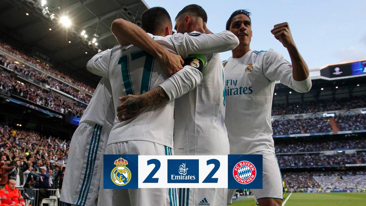 Chấm điểm kết quả Real Madrid 2-2 Bayern Munich