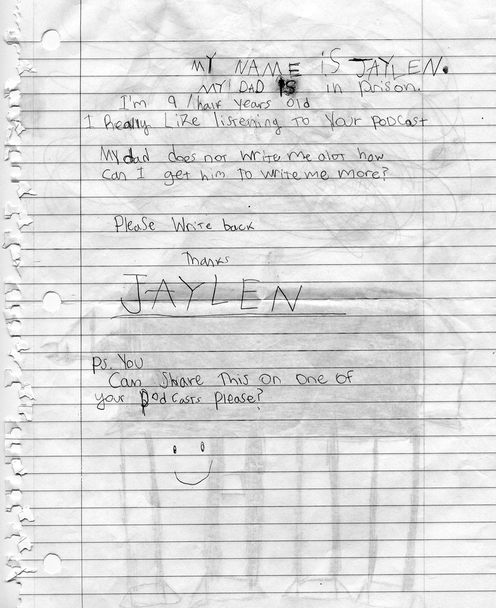 Ear Hustle Podcast On Twitter Little JaylenS Beautiful Letter