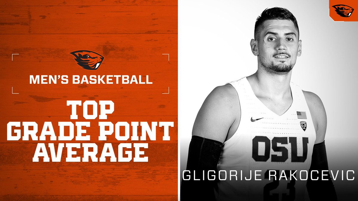 Congrats to @gligorije11! Honored at last nights Academic Achievement Dinner for the top GPA on the team. #GoBeavs