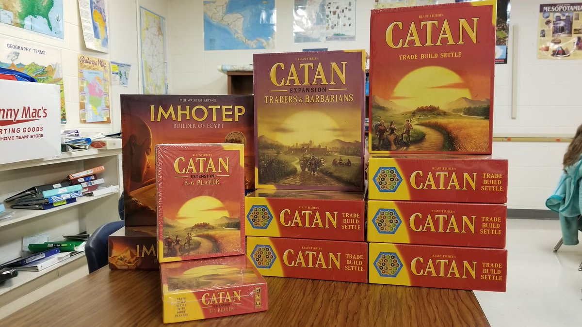 Big thanks to the Clinton Education Foundation for providing us with some great games to build our geographic, economic, and social skills. @CMSCardinals @ClintonMoCards #catan