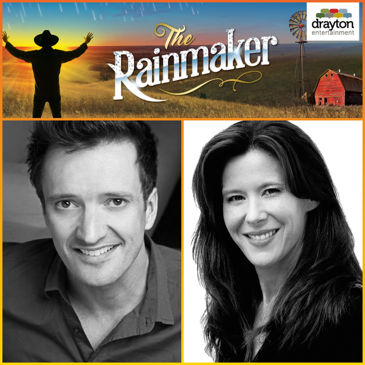 Casting News! @pquilly and Jackie Mustakas have joined the cast of The Rainmaker.  Paul will play Bill Starbuck and Jackie plays Lizzie Curry.  Don't miss this romantic comedy on stage at #StJacobsCountryPlayhouse June 20 - July 7  https://www. draytonentertainment.com/rainmaker-stja cobs  … <br>http://pic.twitter.com/hX9Zs3XO1j